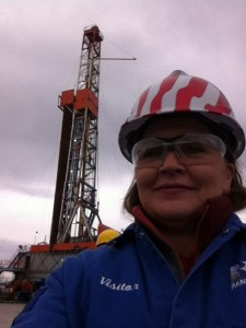 Supervisor Hough visiting a Range Resources Well Pad
